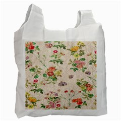 Vintage Flowers Wallpaper Pattern Recycle Bag (one Side)