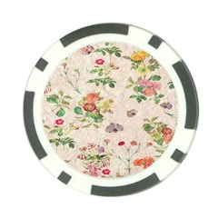 Vintage Flowers Wallpaper Pattern Poker Chip Card Guard (10 Pack)