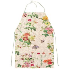 Vintage Flowers Wallpaper Pattern Full Print Aprons