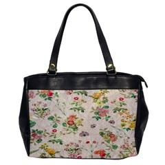Vintage Flowers Wallpaper Pattern Office Handbags