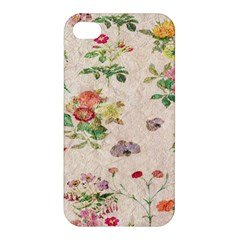 Vintage Flowers Wallpaper Pattern Apple Iphone 4/4s Hardshell Case