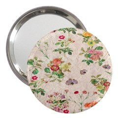 Vintage Flowers Wallpaper Pattern 3  Handbag Mirrors