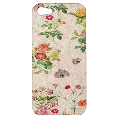 Vintage Flowers Wallpaper Pattern Apple Iphone 5 Hardshell Case