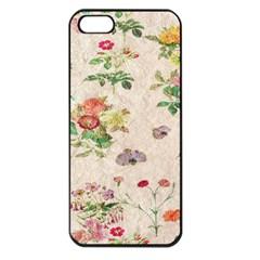 Vintage Flowers Wallpaper Pattern Apple Iphone 5 Seamless Case (black)