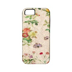 Vintage Flowers Wallpaper Pattern Apple Iphone 5 Classic Hardshell Case (pc+silicone)