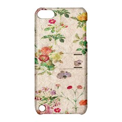 Vintage Flowers Wallpaper Pattern Apple Ipod Touch 5 Hardshell Case With Stand