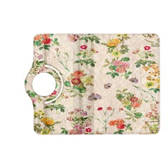 Vintage Flowers Wallpaper Pattern Kindle Fire Hd (2013) Flip 360 Case
