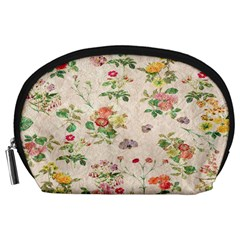 Vintage Flowers Wallpaper Pattern Accessory Pouches (large)