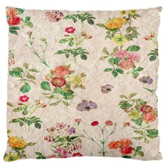 Vintage Flowers Wallpaper Pattern Standard Flano Cushion Case (one Side)