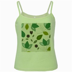 Leaves Flowers Abstract Green Spaghetti Tank