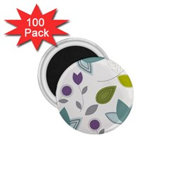 Leaves Flowers Abstract 1 75  Magnets (100 Pack)