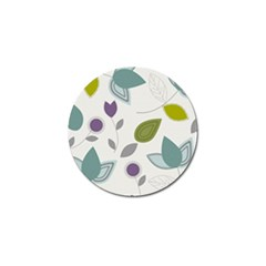 Leaves Flowers Abstract Golf Ball Marker (10 Pack)