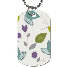 Leaves Flowers Abstract Dog Tag (two Sides)