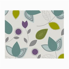 Leaves Flowers Abstract Small Glasses Cloth