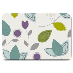 Leaves Flowers Abstract Large Doormat  by goodart