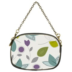 Leaves Flowers Abstract Chain Purses (one Side)