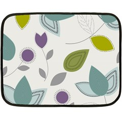 Leaves Flowers Abstract Double Sided Fleece Blanket (mini)  by goodart