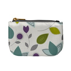 Leaves Flowers Abstract Mini Coin Purses