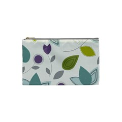 Leaves Flowers Abstract Cosmetic Bag (small)