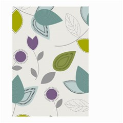 Leaves Flowers Abstract Small Garden Flag (two Sides)