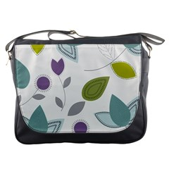 Leaves Flowers Abstract Messenger Bags