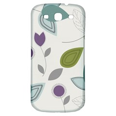 Leaves Flowers Abstract Samsung Galaxy S3 S Iii Classic Hardshell Back Case