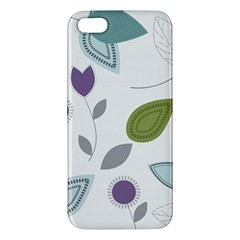 Leaves Flowers Abstract Apple Iphone 5 Premium Hardshell Case