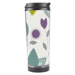 Leaves Flowers Abstract Travel Tumbler