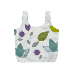 Leaves Flowers Abstract Full Print Recycle Bags (s)
