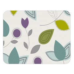 Leaves Flowers Abstract Double Sided Flano Blanket (large)