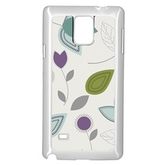 Leaves Flowers Abstract Samsung Galaxy Note 4 Case (white)
