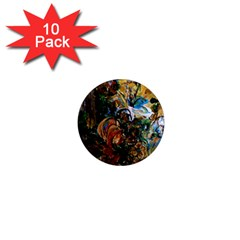 Flowers And Mirror 1  Mini Magnet (10 Pack)