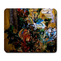 Flowers And Mirror Large Mousepads by bestdesignintheworld