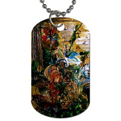 Flowers And Mirror Dog Tag (one Side)