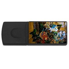 Flowers And Mirror Rectangular Usb Flash Drive