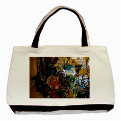 Flowers And Mirror Basic Tote Bag (two Sides)
