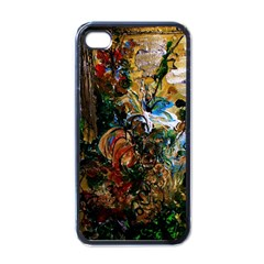 Flowers And Mirror Apple Iphone 4 Case (black)