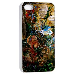 Flowers And Mirror Apple Iphone 4/4s Seamless Case (white)