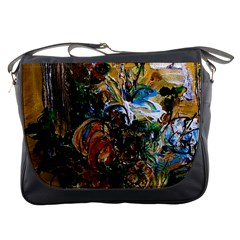 Flowers And Mirror Messenger Bags