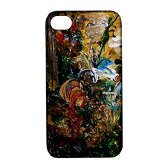 Flowers And Mirror Apple Iphone 4/4s Hardshell Case With Stand