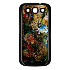 Flowers And Mirror Samsung Galaxy S3 Back Case (black)