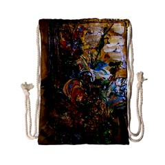 Flowers And Mirror Drawstring Bag (small)