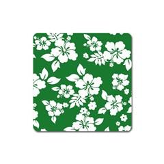 Hibiscus Flower Square Magnet