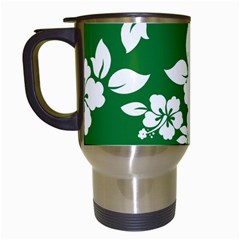 Hibiscus Flower Travel Mugs (white)