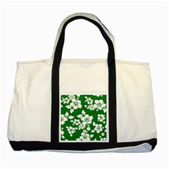 Hibiscus Flower Two Tone Tote Bag