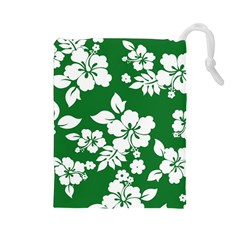 Hibiscus Flower Drawstring Pouches (large)