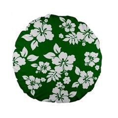 Hibiscus Flower Standard 15  Premium Flano Round Cushions