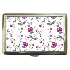 Floral Wallpaper Pattern Seamless Cigarette Money Cases
