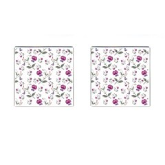 Floral Wallpaper Pattern Seamless Cufflinks (square)
