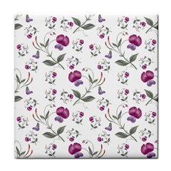 Floral Wallpaper Pattern Seamless Face Towel